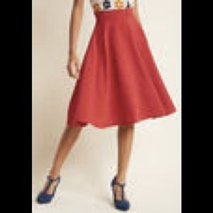 ModCloth Red Skirt, size M
